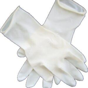 LATEX DISPOS.GLOVES MEDIUM 1X100