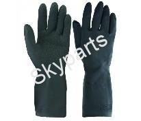 HEAVY DUTY LATEX GLOVES MED