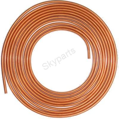 COPPER BRAKE PIPE  ROLL25FT X 3/8""