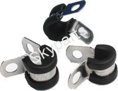 RUBBER LINED P-CLIPS 5mm