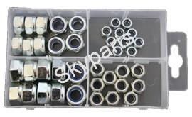 ASSORTED NYLOC SELF LOCKING METRIC NUTS