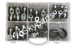 ASSORTED RUBBER LINED P-CLIPS
