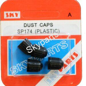 BLACK PLASTIC DUST CAPS CARDED