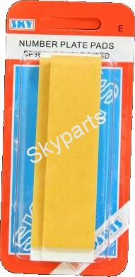 SELF ADHESIVE NUMBER PLATE STICKING PADS
