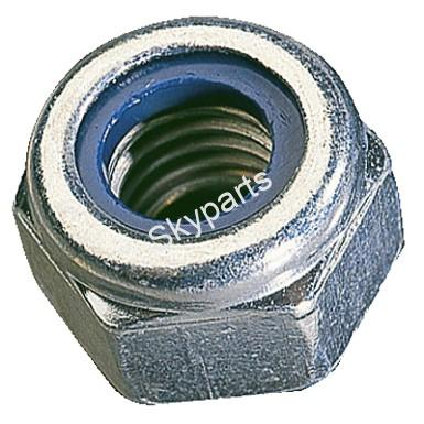 6mm NYLOC STEEL SELF LOCKING NUTS
