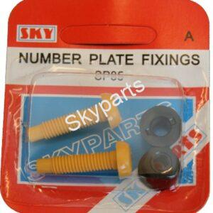 YELLOW NUMBER PLATE NUTS & BOLTS