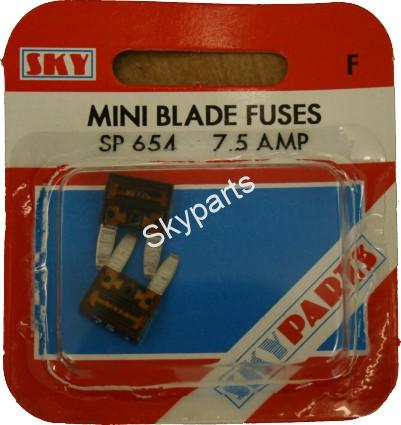 7.5 AMP MINI BLADE FUSES CARDED