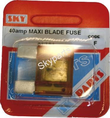 40 AMP MAXI BLADE FUSE CARDED
