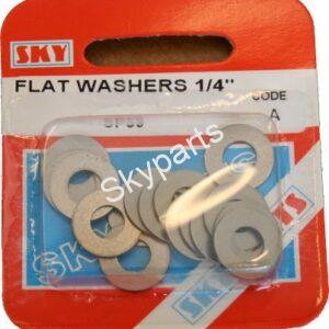 6mm FLAT STEEL WASHERS X 16