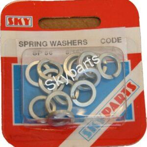 8mm SPRING WASHERS X 14