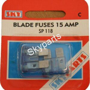 15 AMP BLADE FUSES CARDED