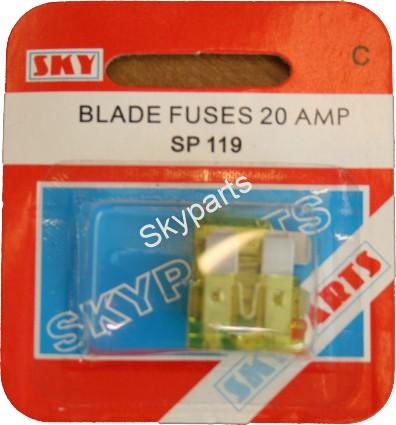 20 AMP BLADE FUSES CARDED