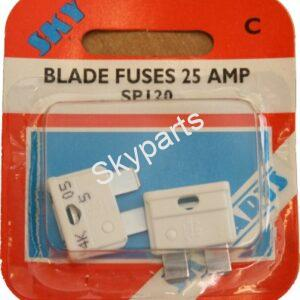 25 AMP BLADE FUSES CARDED