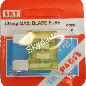 20 AMP MAXI BLADE FUSE CARDED