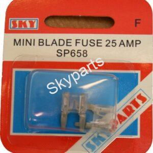 25 AMP MINI BLADE FUSES CARDED