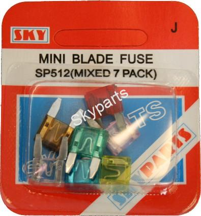 ASSORTED MINI BLADE FUSES CARDED