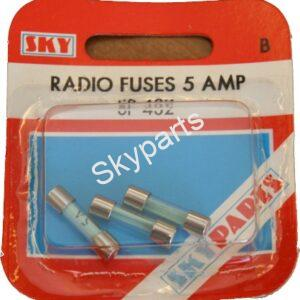 5 AMP RADIO GLASS FUSE