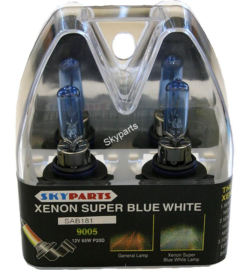 TWIN PACK XENON WHITE/BLUE 9005