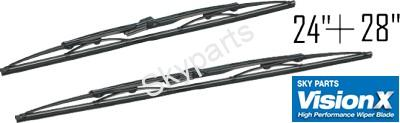 FORD TRANSIT 2000- FRONT WIPER BLADE SET