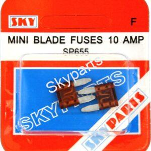 10 AMP MINI BLADE FUSES CARDED