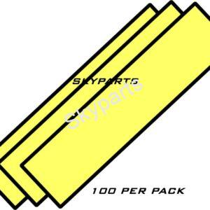 SELF ADHESIVE NUMBER PLATE PADS 1X100