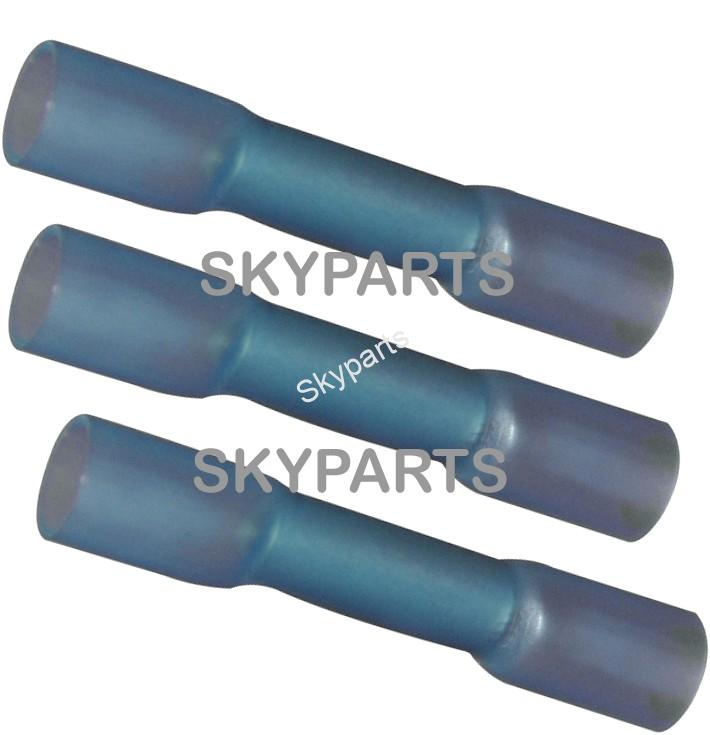 HEAT SHRINK BLUE BUTT 1X25