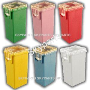 Assorted J-Case Cartridge fuses   1X6