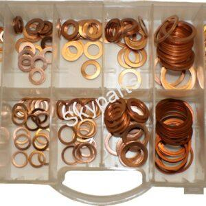 Assorted Copper Washers tray