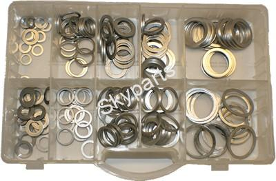 Assorted Aluminium Washers tray