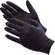 Disposable Black Nitrile Large 1X100