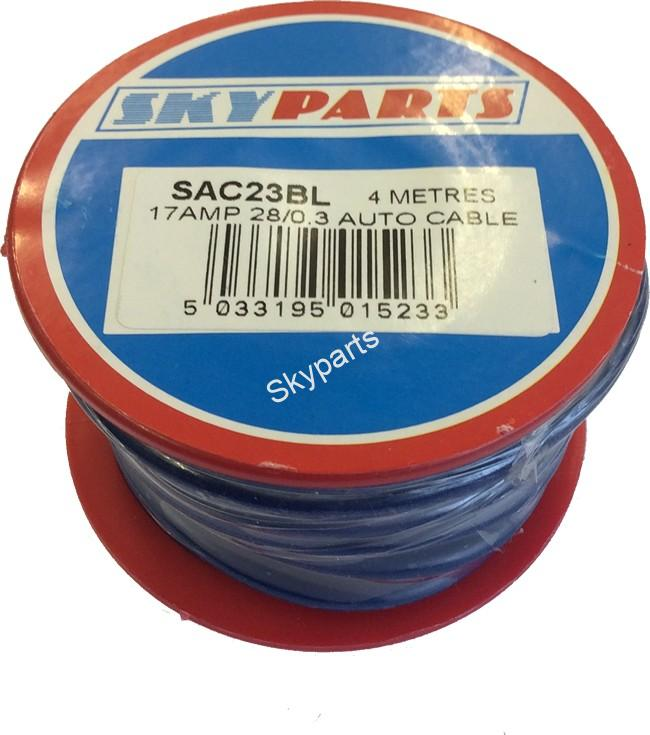 AUTO CABLE 28/0.3mm 17Amp 12v Blue