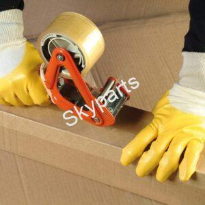 Nitrile coated cotton work gloves LG 1pair