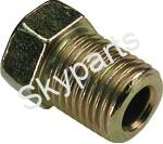 Brass Brake Pipe Fitting Male M10 x 1.25mm 3/16""