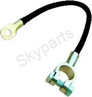 """BATTERY CABLE 12"""" - 304.8mm BLACK LUG TO RING TERMINAL"""