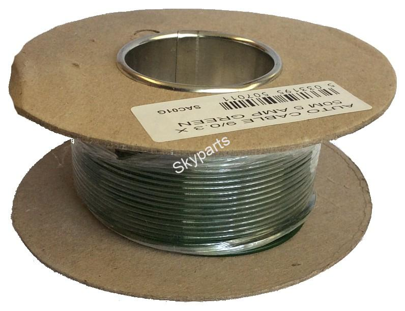 AUTO CABLE 28/0.3 X 30Mtr 17amp GREEN