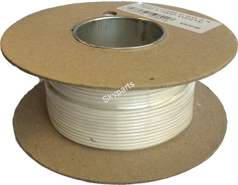 AUTO CABLE 9/0.3 X50Mtr 5amp White