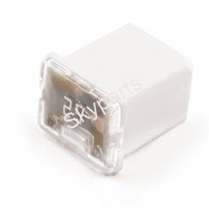 J-Case Cartridge fuse 25A Low Profile 1x2 (White)