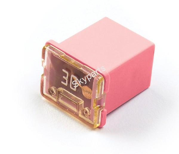 J-Case Cartridge fuse 30A Low Profile 1x2 (Pink)
